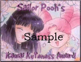 Sailor Pooh's Kawaii Kuteness Award